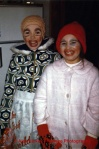 two children in mummering costume