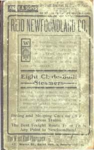 Cover 1904 McAlpine Directory, Newfoundland
