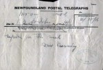 Telegram to Frances Cluett Centre for Newfoundland Studies, MUN