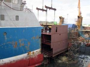Atlantic Leader on Dry-dock, Spain