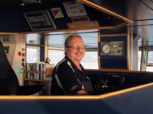 Captain Lawrence on Bridge Of Capesante