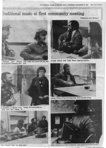 First Meeting of the SCAC, December 1985