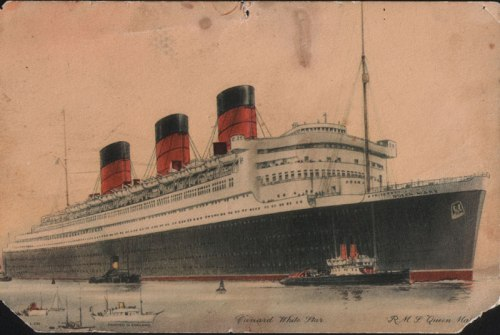 The Queen Mary on her Maiden Voyage.