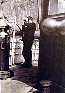 captain tom connors on deck of the ss portia