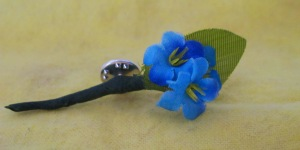 Forget-Me-Not Pin Crafted by Florence Morgan-Thorn
